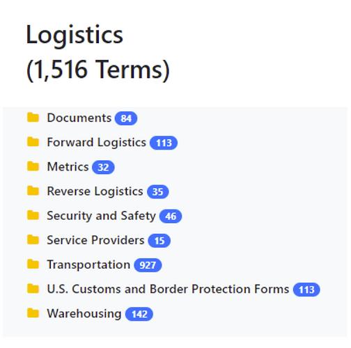 Logistics Taxonomy