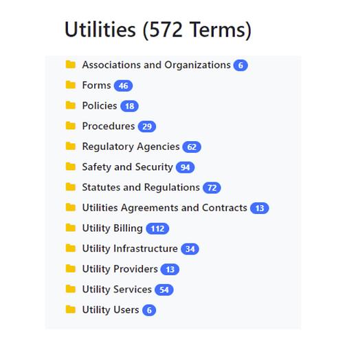 Utilities Taxonomy
