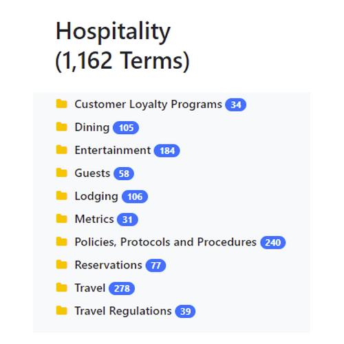 Hospitality Taxonomy