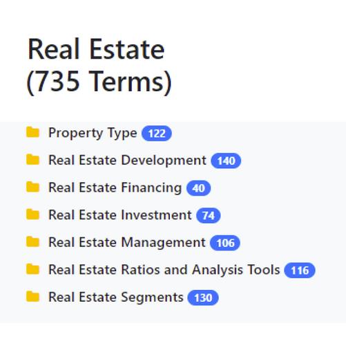 Real Estate Taxonomy
