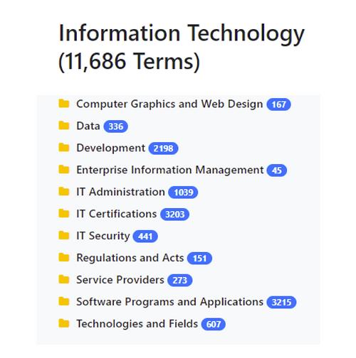 Information Technology Taxonomy