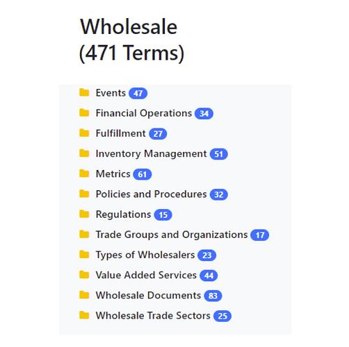 Wholesale Taxonomy
