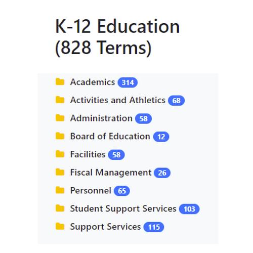 K-12 Education Taxonomy