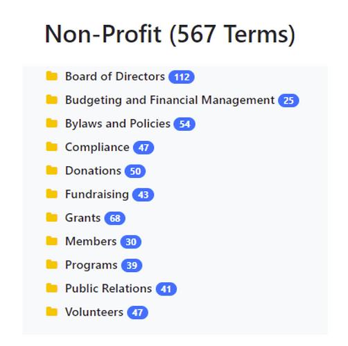 Non-Profit Taxonomy