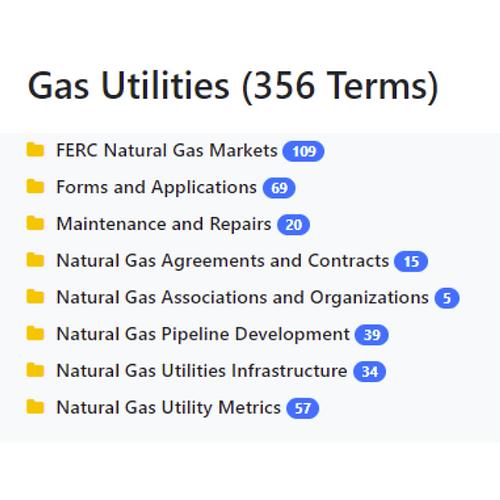 Gas Utilities Taxonomy