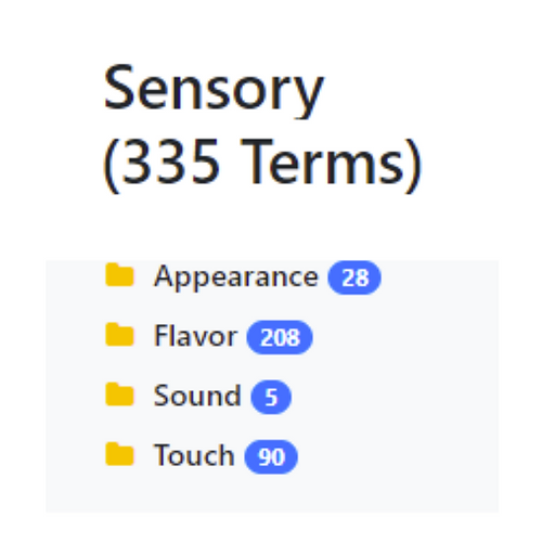 Sensory Taxonomy