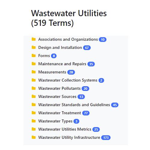 Wastewater Utilities Taxonomy