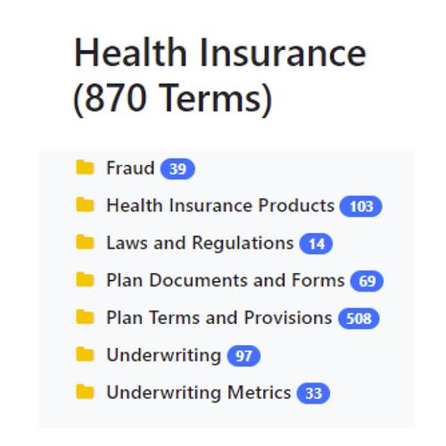 Health Insurance Taxonomy