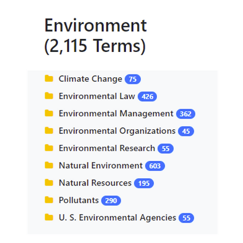 Environment Taxonomy