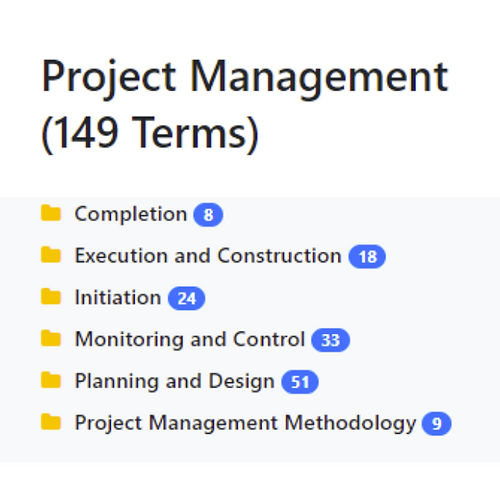 Project Management Taxonomy