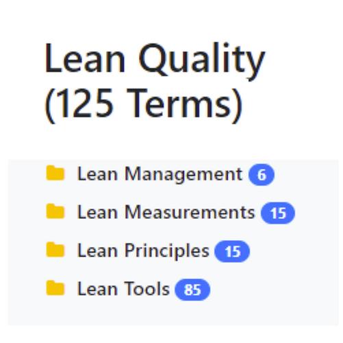 Lean Quality Taxonomy