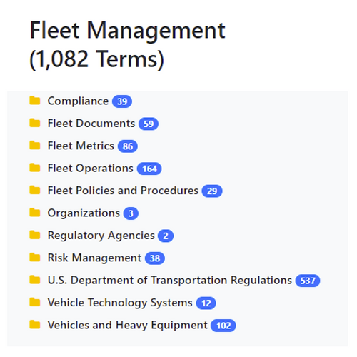 Fleet Management Taxonomy