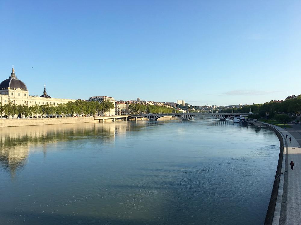 Vue sur le Rhône - Lyon - Août 2019
