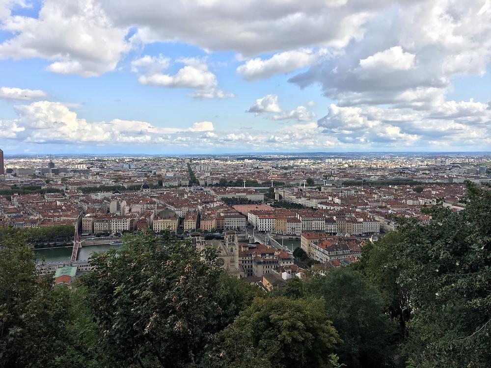Vue sur Lyon depuis Fourvière - Septembre 2019
