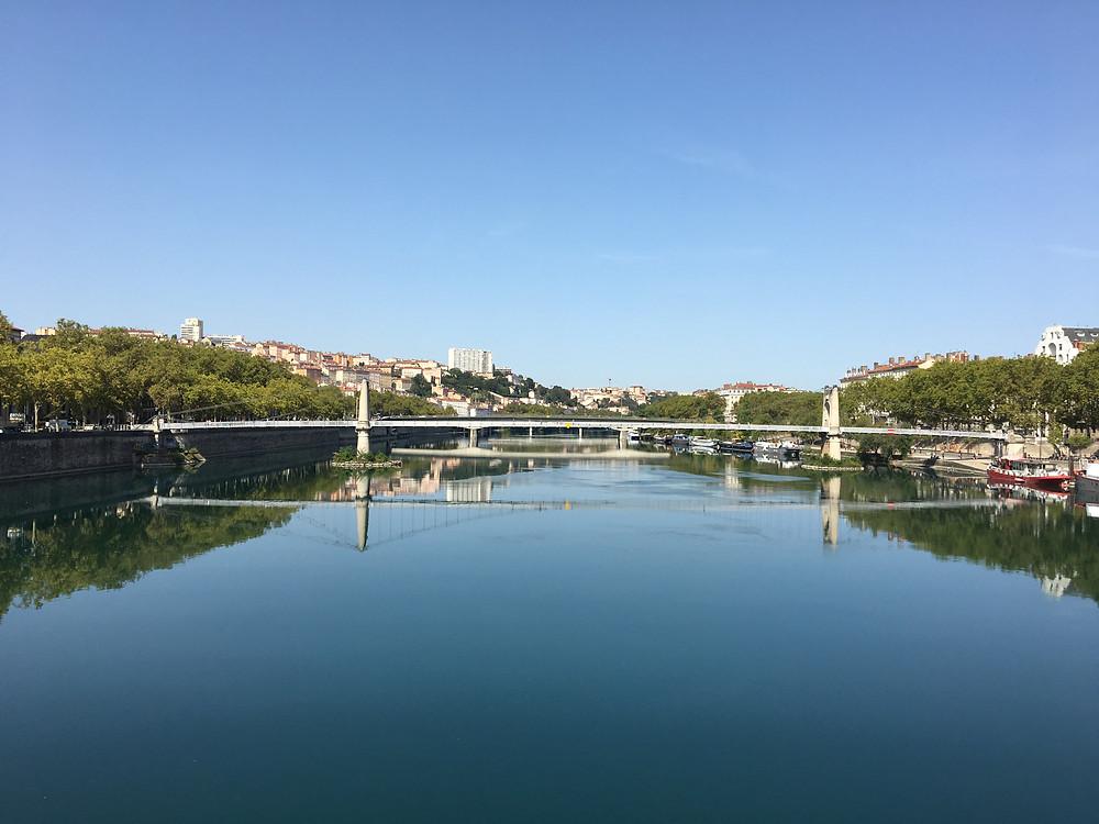 Vue sur le Rhône - Lyon - Octobre 2019