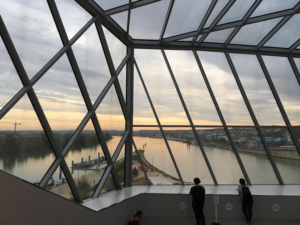 Vue de la jonction depuis le Musée des Confluences - Lyon - Octobre 2019