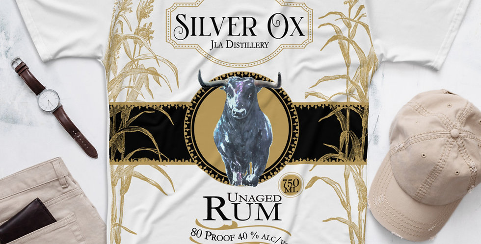 SILVER OX UNAGED RUM Men's T-shirt