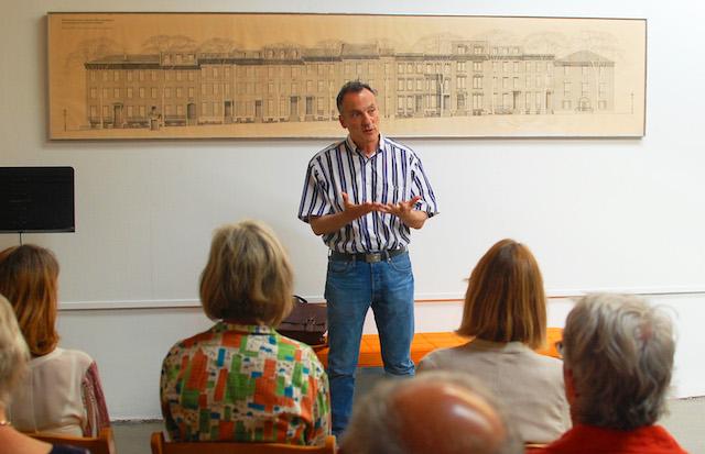 Architectural historian and author Pierluigi Serraino speaking about the Warnecke archive.
