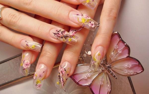 Acrilico y flores