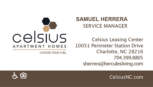 HL - Celsius - Business Cards