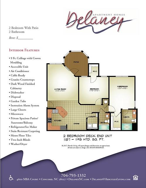 HL - Delaney - Floor Plan Flyers