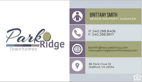 HL - Park Ridge - Business Cards