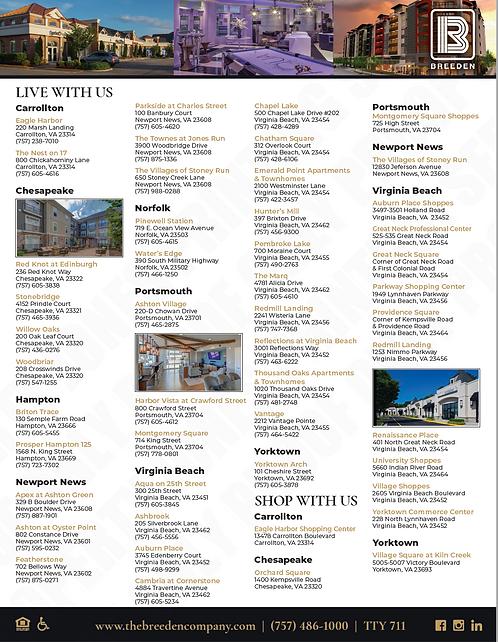TBCO – All Properties Flyer – Hampton Roads