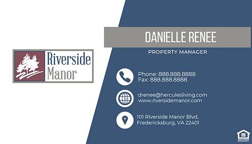 HL - Riverside Manor - Business Cards