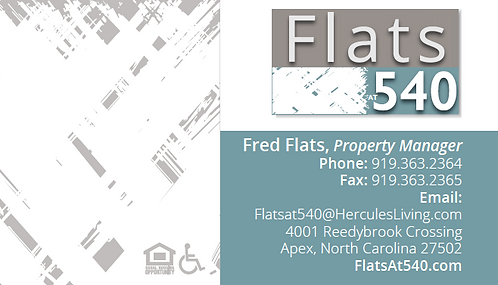 HL - Flats at 540 - Business Cards