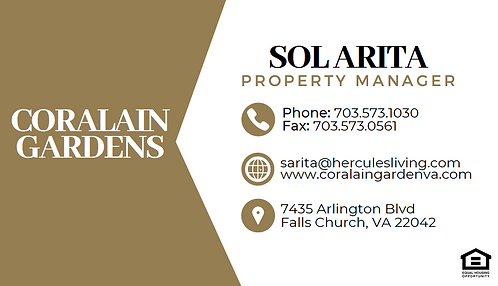 HL- Coralain Gardens - Business Cards