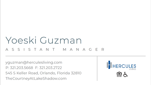 HL - The Courtney at Lake Shadow - Business Cards