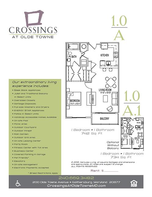 HL - Crossings at Olde Towne - Floor Plan Flyers