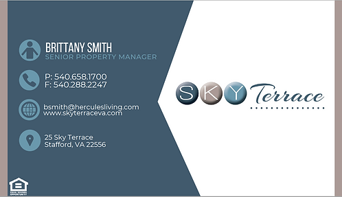 HL - Sky Terrace - Business Cards
