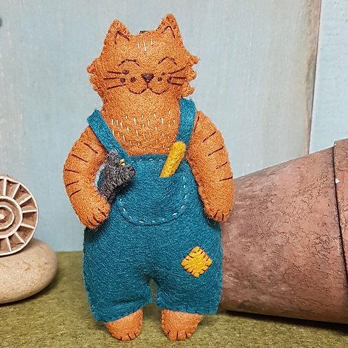 Mr. Cat, Mechanic Felt Craft Kit - Corinne Lapierre