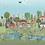 Thumbnail: The Village Pond Border Print - Per 0.5m