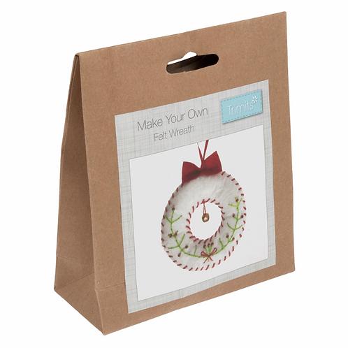 Felt Christmas Wreath Decoration Kit