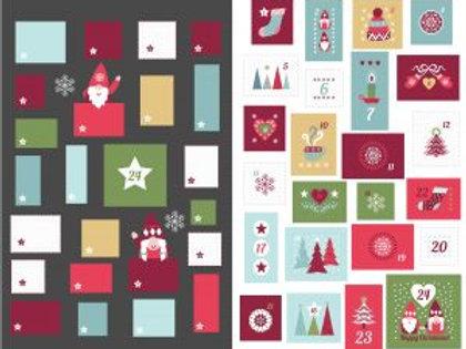 Hugge Christmas Advent Calendar Slate - Per Panel