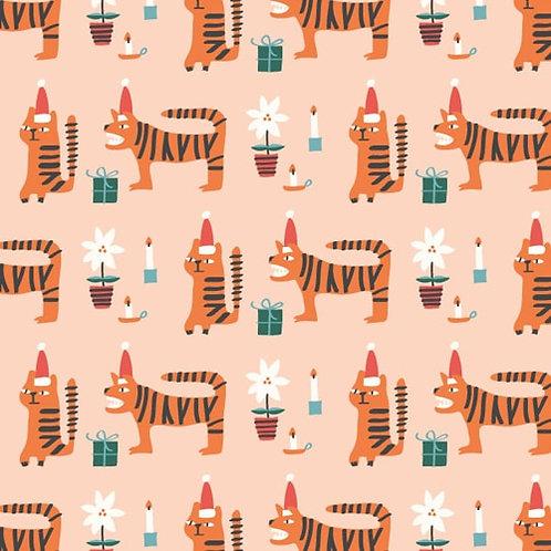Dashwood Studio Christmas Party Tigers - Per 0.5m