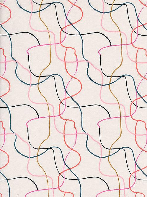 Dashwood Studio Soiree Poplin  - Between the Lines Light - Per 0.5m
