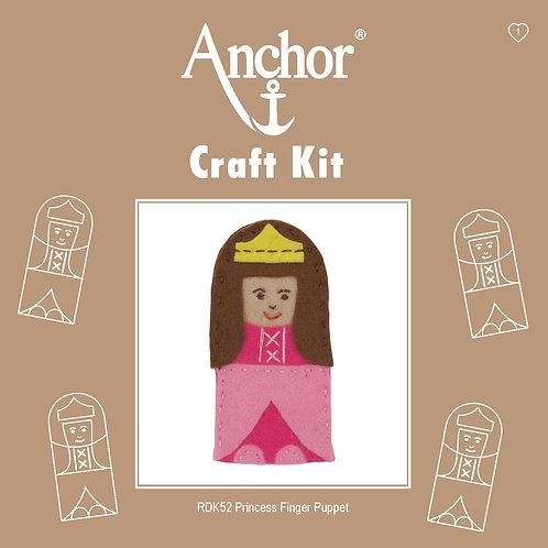 Anchor Felt Finger Puppet Kit - Princess