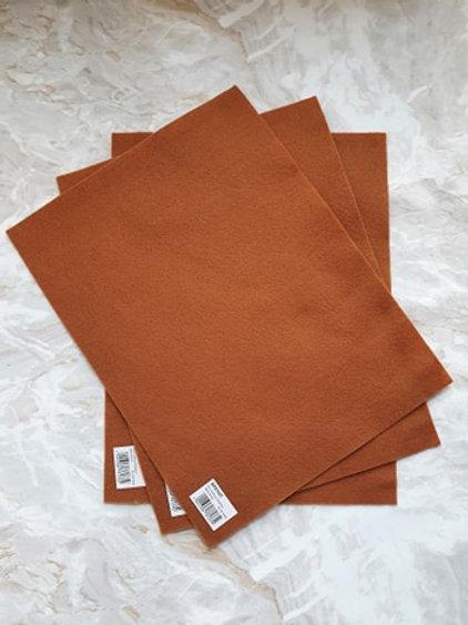 The Craft Factory Felt Light Brown - Per Sheet