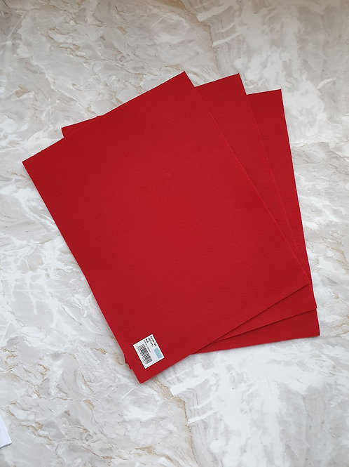 The Craft Factory Felt Red - Per Sheet