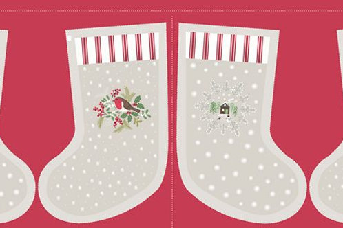 Cream Countryside Stocking - Per stocking Panel