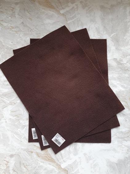 The Craft Factory Felt Brown - Per Sheet