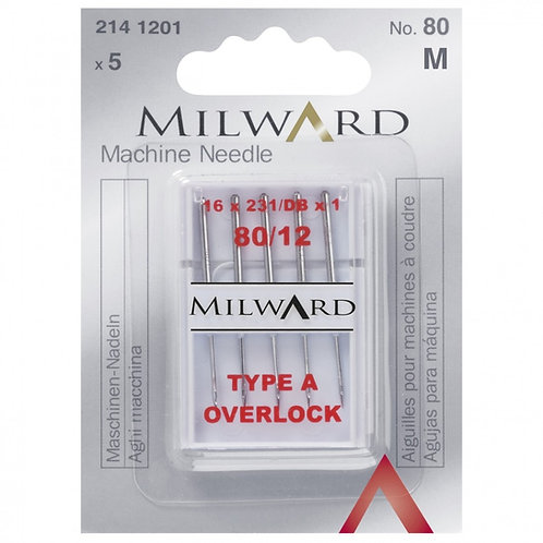 Milward Overlock Needles - Sizes 80/12