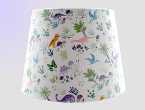 Dinosaur fabric lampshade
