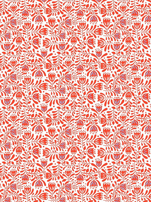 Red Hann's Floral - Per 0.5m