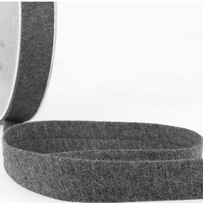 20mm Dark Grey Cotton Jersey Bias Binding