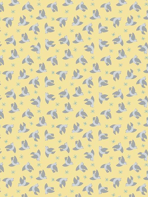 Flying Bluebirds on Lemon - Per 0.5m