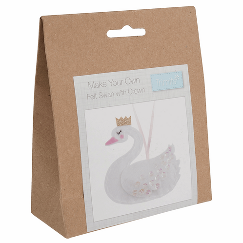 Felt Swan Decoration Kit